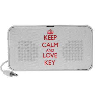 Guarde la calma y la llave del amor laptop altavoz