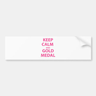 Guarde la calma y la medalla de oro pegatina para auto