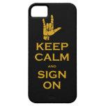 Guarde la calma y la muestra en el caso del iPhone iPhone 5 Case-Mate Protector
