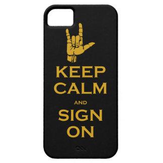 Guarde la calma y la muestra en el caso del iPhone iPhone 5 Fundas