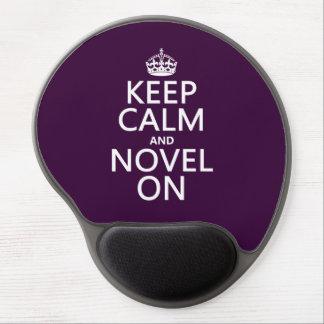 Guarde la calma y la novela encendido alfombrilla de ratón con gel