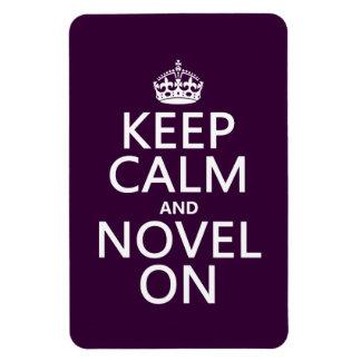 Guarde la calma y la novela encendido imanes flexibles