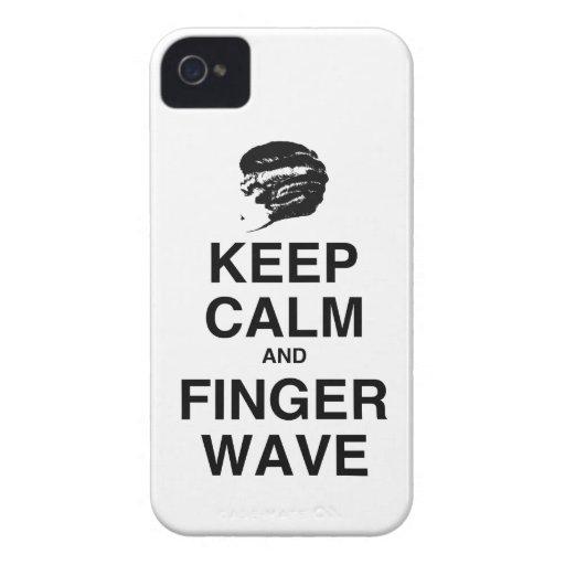 ¡GUARDE LA CALMA Y LA ONDA DE DEDO! Case-Mate iPhone 4 COBERTURAS