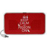 Guarde la calma y la paloma encendido - todos los  iPod altavoces