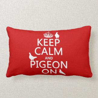 Guarde la calma y la paloma encendido - todos los  almohada