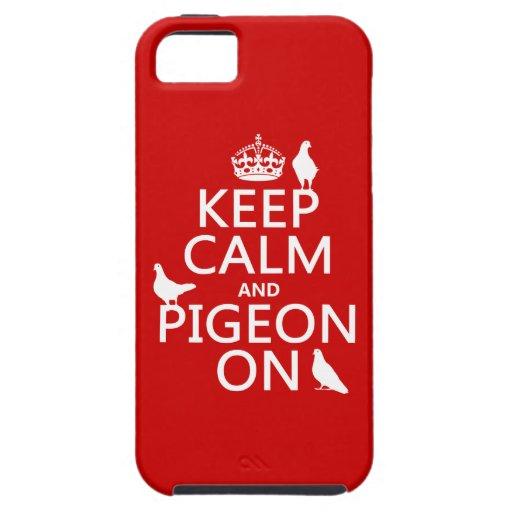 Guarde la calma y la paloma encendido - todos los  iPhone 5 Case-Mate carcasa