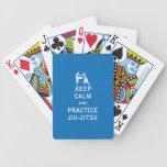 Guarde la calma y la práctica Jiu-Jitsu Baraja Cartas De Poker