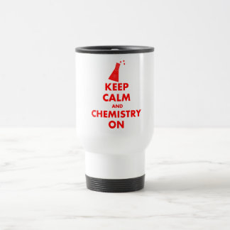 Guarde la calma y la química en los regalos tazas