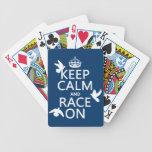 Guarde la calma y la raza en (palomas) (todos los  cartas de juego