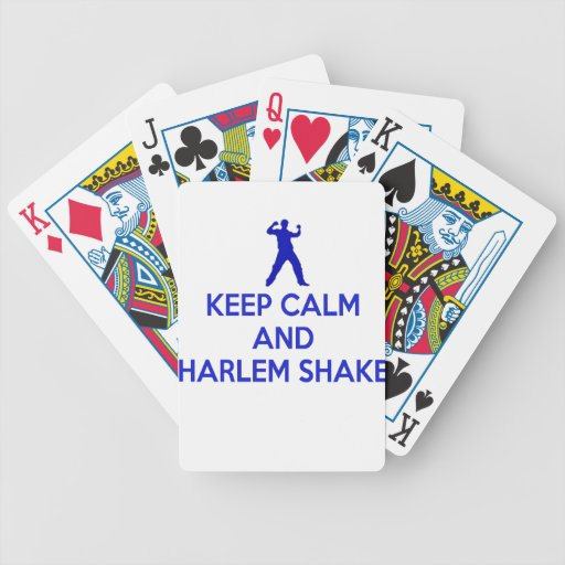 Guarde la calma y la sacudida de Harlem Cartas De Juego