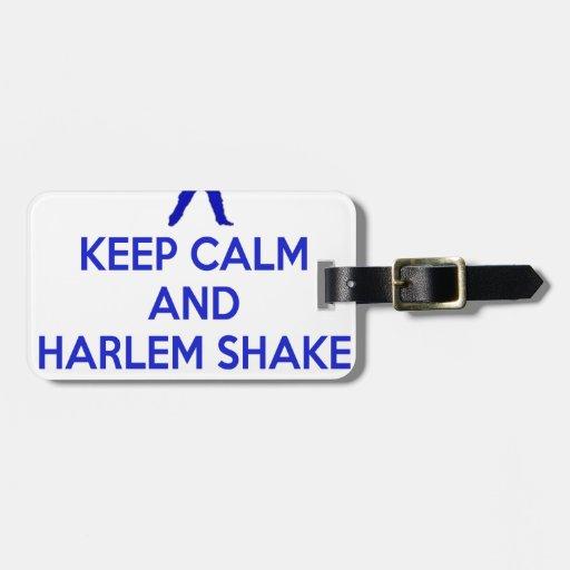 Guarde la calma y la sacudida de Harlem Etiqueta De Equipaje