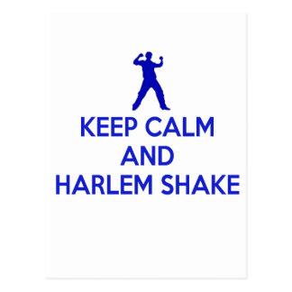 Guarde la calma y la sacudida de Harlem Postales