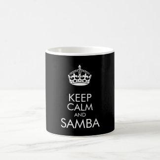 Guarde la calma y la samba - cambie el color de taza