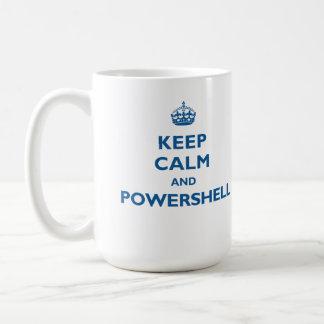 Guarde la calma y la taza de PowerShell
