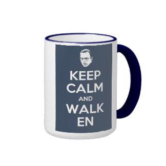 Guarde la calma y la taza de Walken