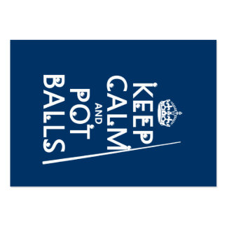 Guarde la calma y las bolas del pote (billar/la pi tarjetas de visita grandes