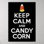 Guarde la calma y las pastillas de caramelo en neg posters
