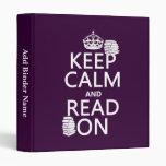 Guarde la calma y lea en (en cualquier color)