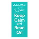 Guarde la calma y lea en marca de libro lonas publicitarias