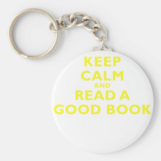 Guarde la calma y lea un buen libro llaveros personalizados