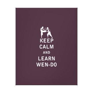 Guarde la calma y Learn Wen-Hace Lienzo Envuelto Para Galerias