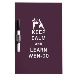 Guarde la calma y Learn Wen-Hace Pizarras