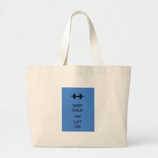 Guarde la calma y levante encendido bolsas