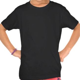 Guarde la calma y levante encendido camiseta