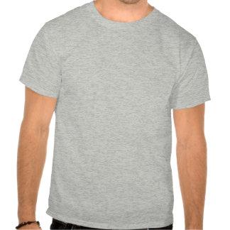 Guarde la calma y levante pesado camiseta