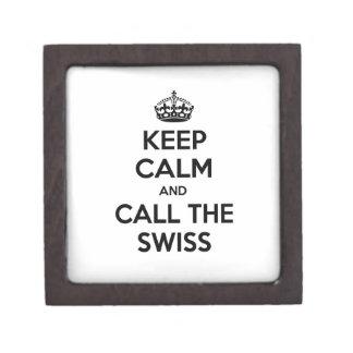 Guarde la calma y llame a los suizos cajas de joyas de calidad