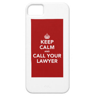 Guarde la calma y llame a su abogado iPhone 5 carcasas