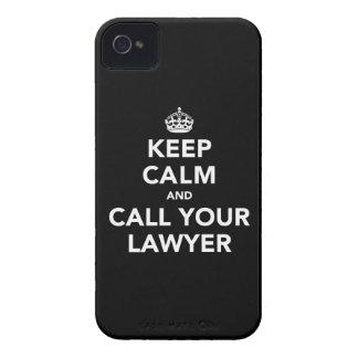 Guarde la calma y llame a su abogado iPhone 4 funda