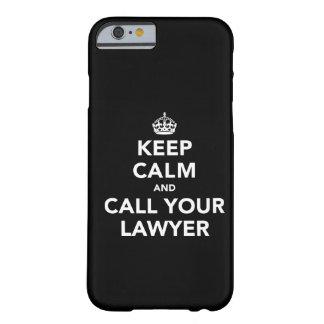 Guarde la calma y llame a su abogado funda barely there iPhone 6