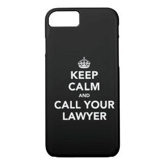 Guarde la calma y llame a su abogado funda iPhone 7