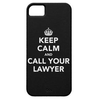 Guarde la calma y llame a su abogado iPhone 5 fundas