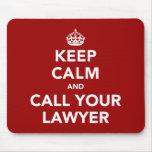 Guarde la calma y llame a su abogado tapetes de ratones