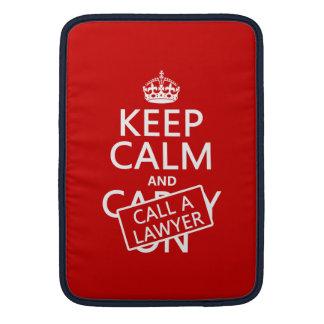 Guarde la calma y llame a un abogado (en cualquier fundas macbook air