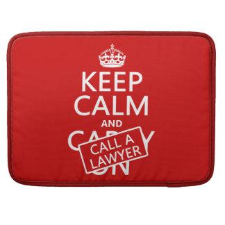Guarde la calma y llame a un abogado (en cualquier fundas para macbook pro