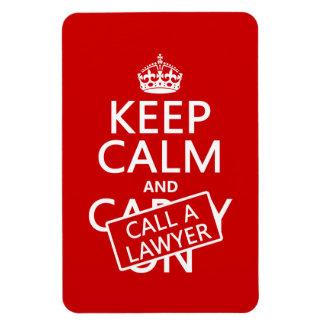 Guarde la calma y llame a un abogado (en cualquier iman rectangular