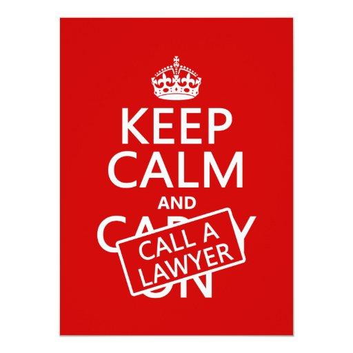 Guarde la calma y llame a un abogado (en cualquier comunicado personal