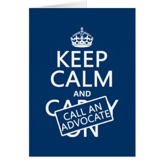 Guarde la calma y llame a un abogado (en cualquier tarjeta de felicitación