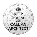 Guarde la calma y llame a un arquitecto tablero de dardos