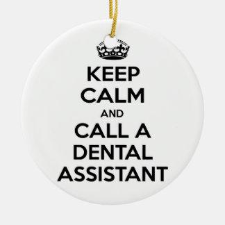 Guarde la calma y llame a un ayudante de dentista ornamentos de reyes magos