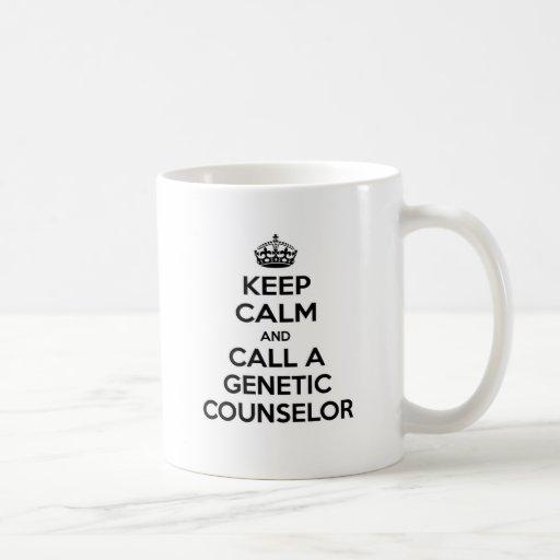 Guarde la calma y llame a un consejero genético taza
