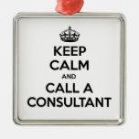 Guarde la calma y llame a un consultor ornamento para arbol de navidad