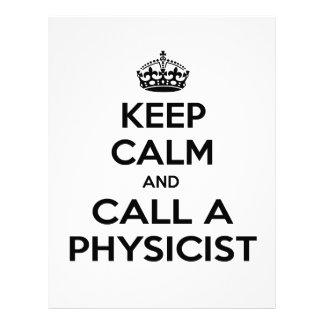 Guarde la calma y llame a un físico membretes personalizados