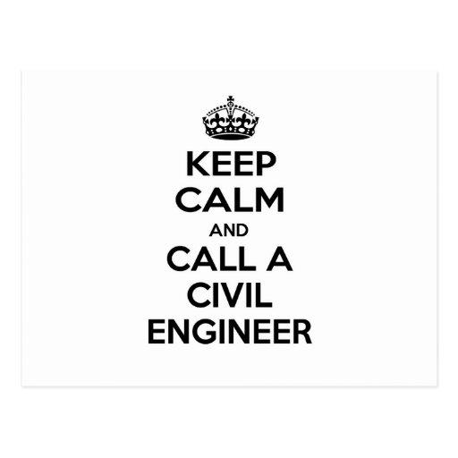 Guarde la calma y llame a un ingeniero civil postal
