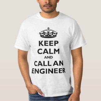 Guarde la calma y llame a un ingeniero poleras