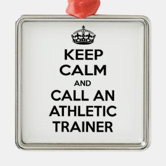 Guarde la calma y llame a un instructor atlético ornamentos de reyes
