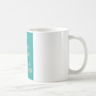 Guarde la calma y llame a un mediador tazas de café